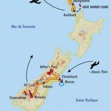 Itinéraire du voyage Nouvelle Zélande Secrète - Nouvelle-Zélande - Tirawa