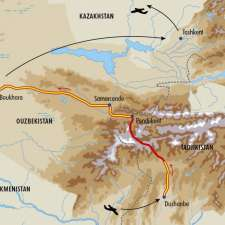 Itinéraire du voyage Dômes de neige et de turquoise - Ouzbékistan - Tirawa