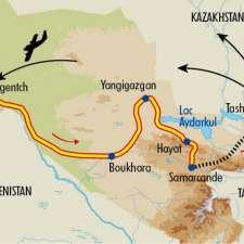Itinéraire du voyage Charmes d'Ouzbékistan - Ouzbékistan - Tirawa