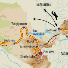 Itinéraire du voyage Grande traversée de l'Ouzbékistan - Ouzbékistan - Tirawa