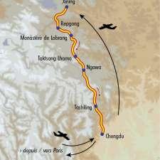 Itinéraire du voyage Nouvel An Tibétain avec Jeanne Mascolo - Tibet - Tirawa
