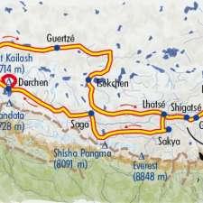 Itinéraire du voyage Kailash et Gugé - Tibet - Tirawa
