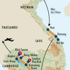 Itinéraire du voyage De la Baie d'Halong à Angkor - Vietnam - Tirawa