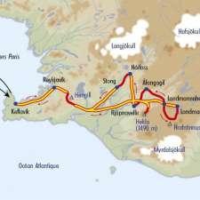 Itinéraire du voyage Trek des Volcans Islandais - Islande - Tirawa