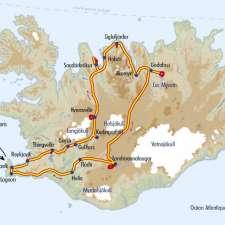 Itinéraire du voyage Pistes Intérieures et Sources Chaudes - Islande - Tirawa