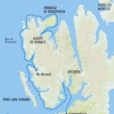 Itinéraire du voyage Randonnée et Croisière au Spitzberg - Norvège - Tirawa