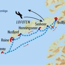 Itinéraire du voyage Randonnée et Croisière aux Lofoten - Norvège - Tirawa