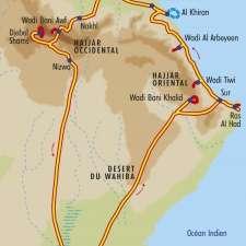 Itinéraire du voyage Grand Tour d'Oman - Oman - Tirawa