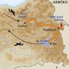 Itinéraire du voyage Mythique Mont Ararat - Turquie - Tirawa