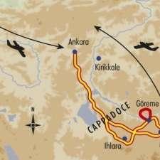Itinéraire du voyage Balade en Cappadoce - Turquie - Tirawa