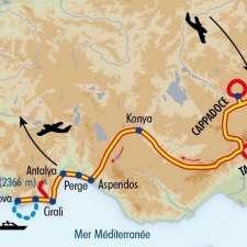 Itinéraire du voyage De la Cappadoce à la Méditerranée - Turquie - Tirawa