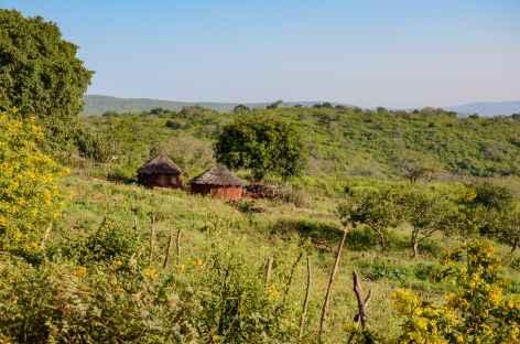 Village swazi dans les montagnes de Lumbobo - Swaziland -