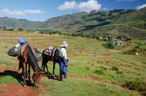 Début de trek, montagnes de Maloti - Lesotho -