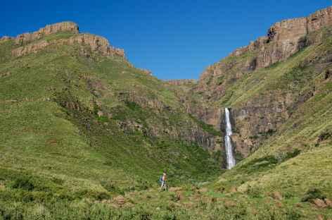Cascade de Ribaneng, montagnes de Maloti - Lesotho -