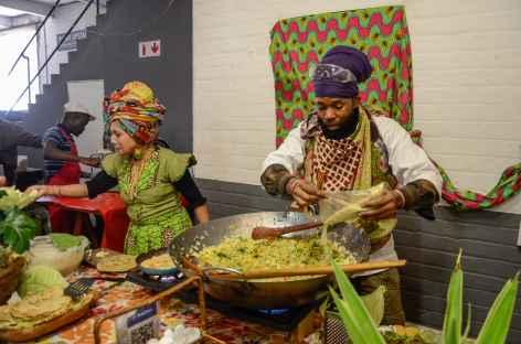 Déjeuner dans un quartier de Johannesburg - Afrique du Sud -