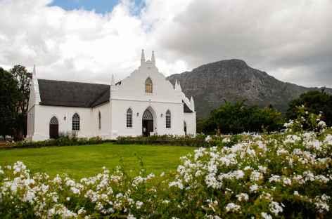 Bourgade de Franshhoek, région des vins - Afrique du Sud -