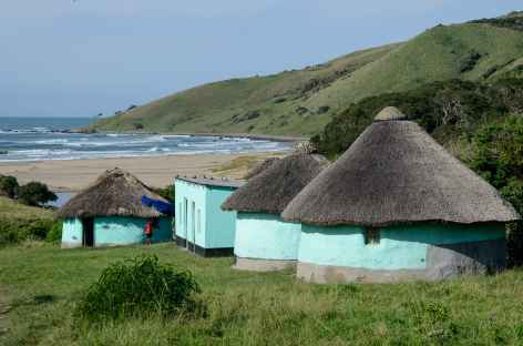 Rondavels traditionnels, Wild Coast - Afrique du Sud -
