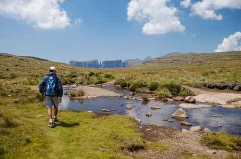 Rando à l'Amphithéatre, Drakensberg - Afrique du Sud -