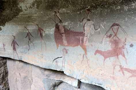 Peintures rupestres San, Réserve d'Injisuthi, Drakensberg - Afrique du Sud -