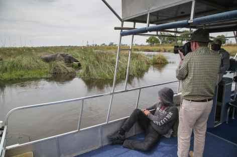 Bateau sur le delta de l'Okavango - Botswana -