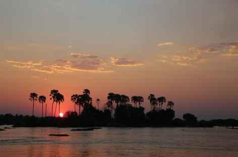 Coucher de soleil sur le Zambèze - Zimbabwe -