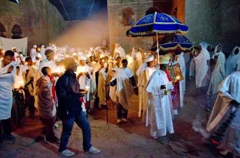Lalibela, lors de la fête de Fasika (Pâques) - Ethiopie -
