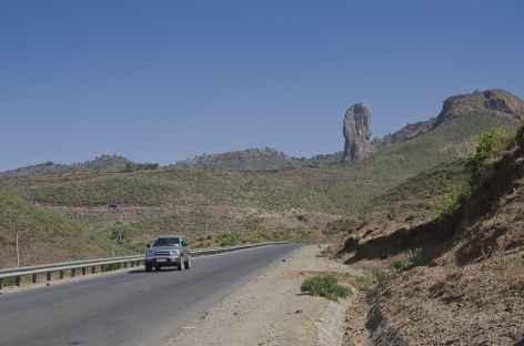 Route entre Bahar Dar et Gondar - Ethiopie -