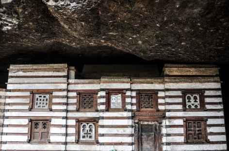 Eglise rupestre de Yemerhana Kristos, au nord de Lalibela - Ethiopie -