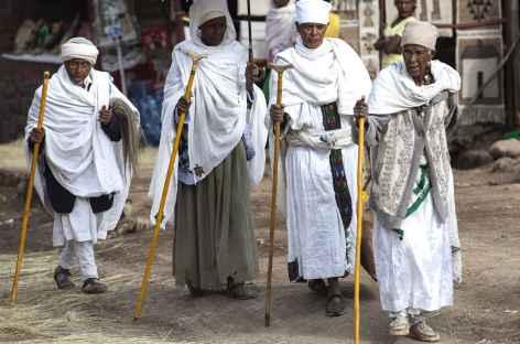 Lors de fêtes de Timkat - Ethiopie -