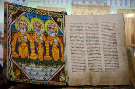 Dans l'église de Sainte Marie de Sion, Axoum - Ethiopie -