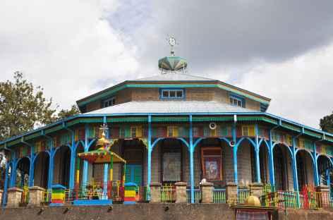 Eglise Sainte Marie, colline d'Entoto à Addis Abeba - Ethiopie -