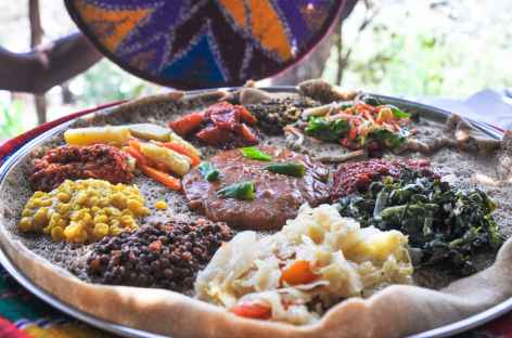 L'injera, le plat traditionnel éthiopien -