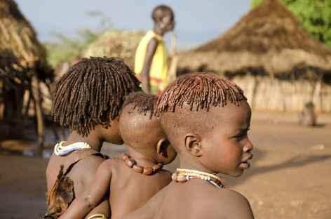 Enfants Hamer, Vallée de l'Omo - Ethiopie -