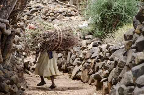 Village konso, Vallée de l'Omo - Ethiopie -