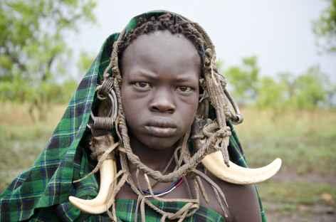 Femme Mursi, Vallée de l'Omo - Ethiopie -