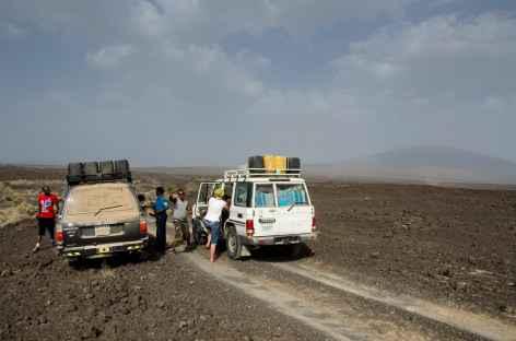 Piste entre Dallol et Erta Ale - Ethiopie -