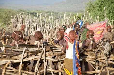Village Hamer, Vallée de l'Omo - Ethiopie -