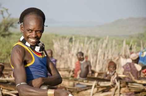 Jeune homme Hamer, Vallée de l'Omo - Ethiopie -
