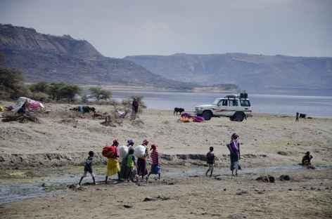 Rencontres sur les berges du lac Abyata - Ethiopie -