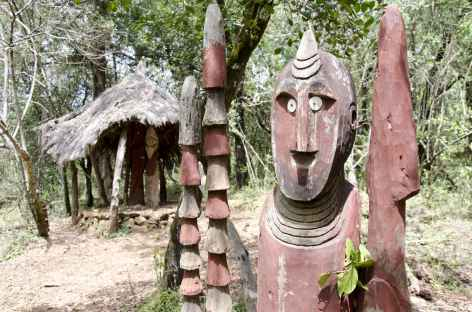 Waga, ou totem funéraire des Konso, Vallée de l'Omo - Ethiopie -