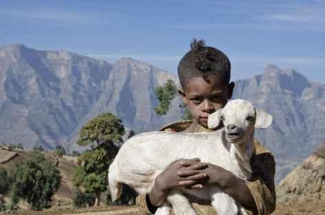 Village de Sona, montagnes du Simien - Ethiopie -