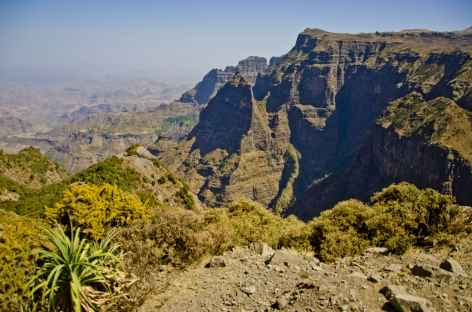 Trek entre la cascade de Jinbar et Geech, montagnes du Simien - Ethiopie -