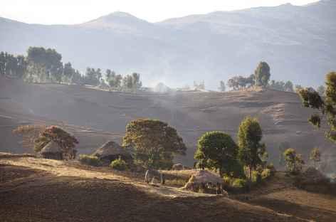 Vers le village de Sona, Simien - Ethiopie -