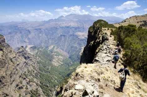 Montagnes du Simien, descente vers le camp de Chennek - Ethiopie -