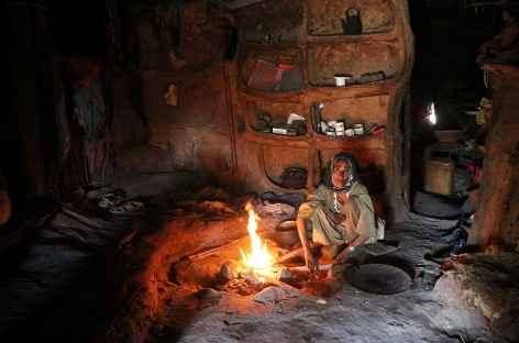 Chez l'habitant dans le village de Geech, Simien - Ethiopie -