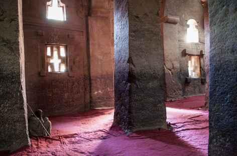L'une des nombreuses églises à Lalibela - Ethiopie -