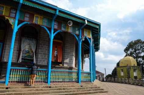 Eglise sur la colline d'Entoto, Addis Abeba - Ethiopie -