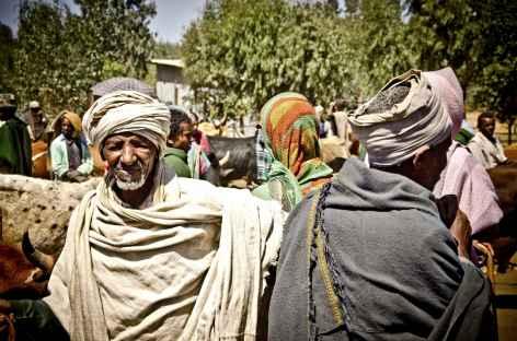 Scène de vie dans un marché, au nord du pays - Ethiopie -
