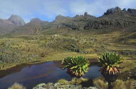 Descente par la voie Chogoria, Mont Kenya - Kenya -