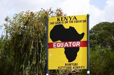Ligne de l'Equateur au Kenya -